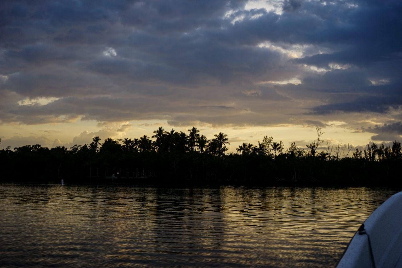 Sun setting over Keewaydin Island