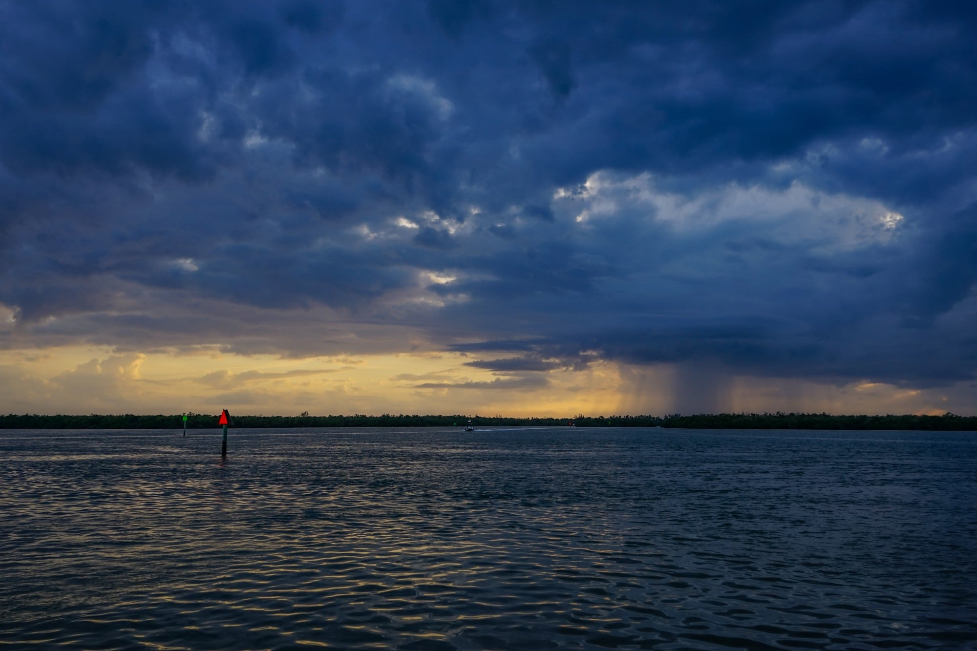 Rain over the Gulf of Mexico
